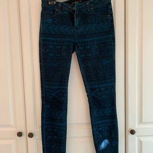 Blue print jeans
